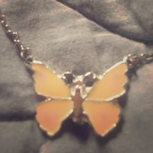 70's butterfly necklace